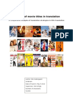 BA Project - The Fate of Movie Titles in Translation