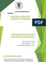 Expresiones Regulares y Gramaticas