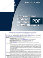 International Medical Devices Regulatory NEWS-In-BRIEF 2012 05 N001 Version 1 3 Np