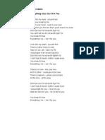 Selected English Song Lyrics