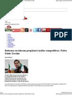15/03/13 Reforma en telecom propiciará tarifas competitivas