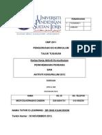 Kertas Kerja Perkhemahan Perdana SKTD 2012
