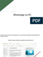 WhatsApp No PC