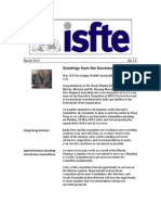ISfTE Newsletter 34 March 2013