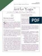 About Sanskrit