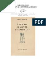 Carlo Manzoni - E' in Casa Il Signor Brambilla (Ita Libro)