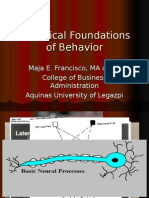 Biological Foundations of Behavior