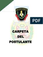 Carpeta de Postulante a La Ets-pnp 2013