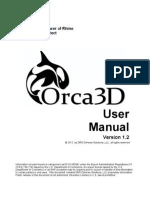 Orca 3D guide rhinoceros | Arbitral Tribunal | Microsoft Windows