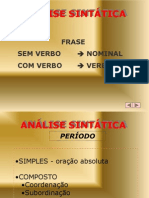 Analise Sintatica com exerc�cio - Prof. Iza�as.ppt