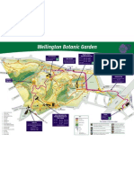 Botanic Garden Map, Wellington New Zealand