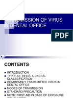 transmission of virus in dental office