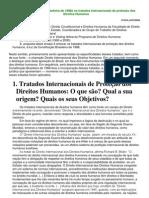 A Constituição Brasileira de 1988e os tratados internacionais de proteção dos Direitos Humanos