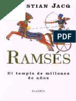 Jacq, Christian - Ramses II - El Templo de Millones de años