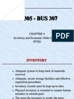IE305 CH 4 Inventory and Economic Order Quantity