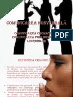 COMUNICAREA NONVERBALĂ POWER POINT