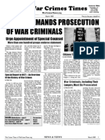 War Crimes Times March Issue