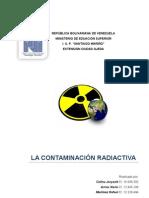 Trabajo de Cultural II Contaminacion Radioactiva