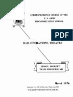army railroad rail operations theater