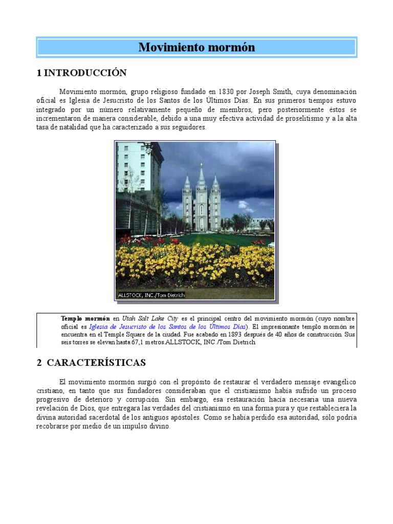 Informacion Enciclopedica Sobre Mormonismo