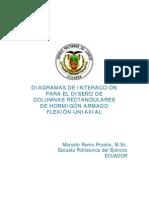 DIAGRAMAS DE INTERACCIÓN PARA EL DISEÑO DE COLUMNAS RECTANGULARES DE HORMIGÓN ARMADO FLEXIÓN UNIAXIAL