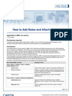 how to add notes and documents