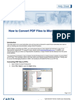 how to convert pdf files to word processing files (rft)