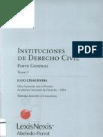 Instituciones de Derecho Civil Parte General TOMO I - Julio C Sar Rivera