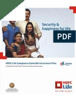 Hdfc Sam Poor n Sam Rid Hi Insurance Plan