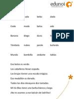 Ejercicio Lectura Palabras y Frases - b d
