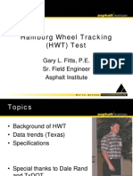 Hamburg Wheel Tracking Test