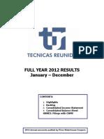 Full Year Report 2012