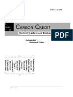 Carbon Credit Market structure