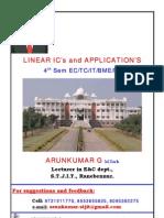 LIC 4th Sem E&C 6 Chapter Notes by Arun Kumar