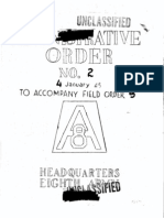 8th Army Administrative Orders Nos 2