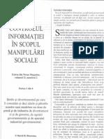 Controlul Informatiei in Scopul Manipularii Sociale 1din4