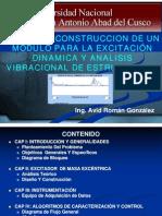 Diseno Para La Excitacion Dinamica y Analisis Vibracional de Estructuras