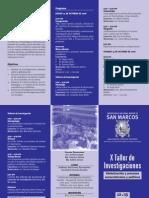 Iihs x Taller Investigaciones Triptico 2006