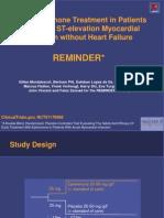 Posible beneficio de la esplerenona en pacientes con infarto agudo de miocardio sin disfunción ventricular