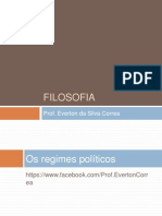 10 Os Regimes Politicos Filosofia 1 EM Aula 10 2012