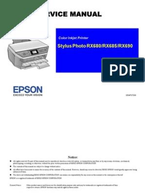 Rx680 Service Manual Usb Image Scanner