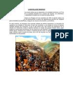 La batalla de Tarapacá