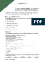 New Employee Survey 20090308