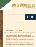 Ketersediaan Dan Manfaat Data BPS