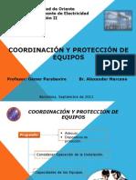 Coordinación y Protección de  Equipos