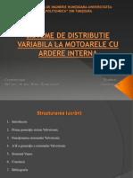 Sisteme de Distribuie Variabila a Motoarelor Cu Ardere Interna