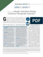 Activación del músculo glúteo durante comunes ejercicios terapéuticos