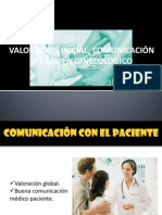 valoración inicial, comunicación y examen ginecológico