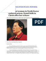 Christian Testimony of Soon Ok Lee in North Korea Prison Camp