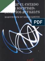 Boaventura de Sousa Santos Pensar El Estado y La Sociedad Desafios Actuales